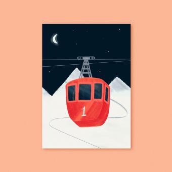"""magdalena skala - Kunstkarte """"Gondel"""""""
