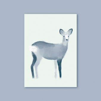 "magdalena skala - Kunstkarte ""Reh"""