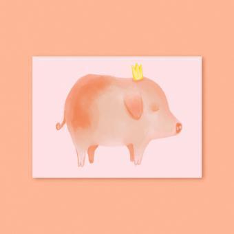 """magdalena skala - Kunstkarte """"Schweinchen"""""""