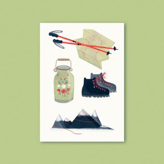 "magdalena skala - Kunstkarte ""Bergreif"""
